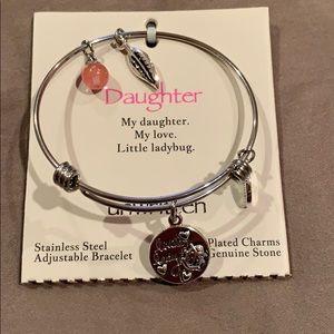 Charm bracelet genuine stone